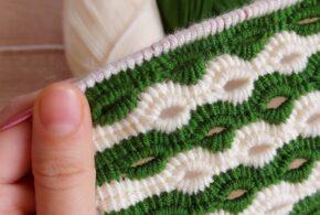 Tunisia Easy Crochet Blanket Vest Model